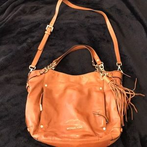 Michael Kors purse camel colored and gold